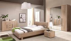 Sestava nábytku do ložnice Maria dub sonoma Bedroom Furniture Sets, Bedroom Sets, Beautiful Bedrooms, Room Decor, House Design, Interior Design, Hijab Fashion, Interiors, Ideas