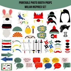 Instant Download Mulan Inspired Printable Photo Booth Prop Set — Amanda Keyt DIY Photo Booth Props & More!