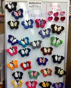 Crochet Magnets, Butterfly Crochet