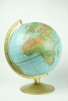 Online veilinghuis Catawiki: Scan globe papier met reliëf - 30 cm )