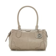 Fiorelli Beige grained charm grab bag- at Debenhams