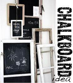 Méchant Design: chalkboard inspiration...anyone that knows me understands my <3 for chalkboard...esp. DIY chalkboard ideas!