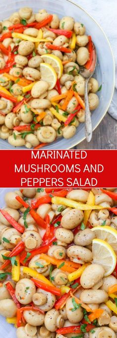 Easy Mushrooms and Peppers Salad Recipe