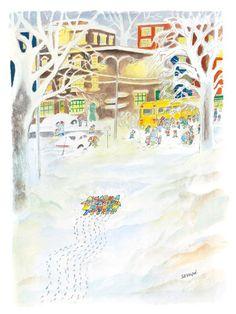 Sempé - Dessin de couverture de The New Yorker (Jan. 14, 2008).