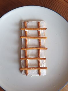 Jacob's Ladder Snack (graham cracker, frosting and pretzels) - Kindergarten Snack - Bible Snack - Kids Snack