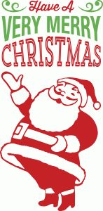 Silhouette Design Store - View Design #70198: santa claus - have a very merry christmas