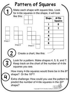 math worksheet : 1000 images about math  patterning  algebra on pinterest  7th  : Grade 6 Math Patterning Worksheets
