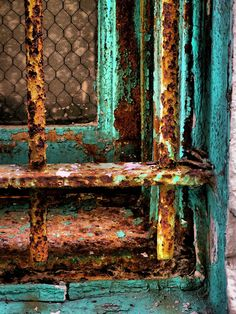 Love the patina.Rusty Cage by Skip Hunt, via Rust Never Sleeps, Rust In Peace, Rusted Metal, Patina Metal, Peeling Paint, Rust Color, Colour, Texture Art, Abstract Photography