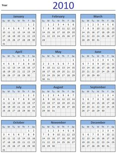 2010 Calendar - Download
