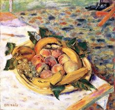 Still Life with Fruit (also known as Peaches and Bananas) Pierre Bonnard - circa 1927