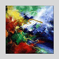 Handgeschilderde+Abstract+/+Abstracte+landschappen+Schilderijen+++Prints,Modern+/+Klassiek+Eén+paneel+CanvasHang-geschilderd+–+EUR+€+97.29