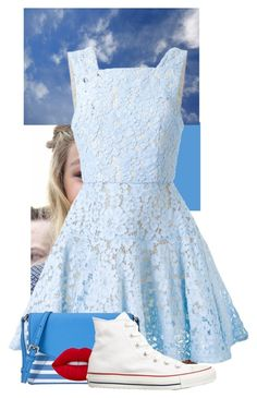 """""""Blue Skies"""" by eb-case on Polyvore featuring Alex Perry, Kate Spade, Lime Crime and Converse"""