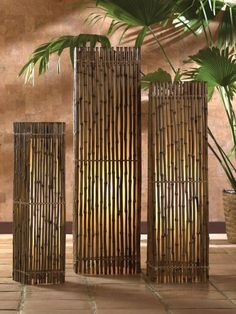 Reid bamboo floor lamps also bring the outside  inside