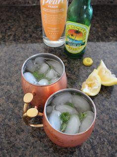 Peach Basil Moscow Mule Recipe