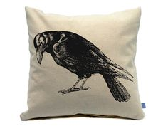 Crow Kitchen Towel Hand Printed Flour by countercouturedesign