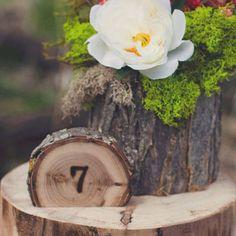 Rustic Wedding Tree Slice Table Numbers by alifesosimple on Etsy