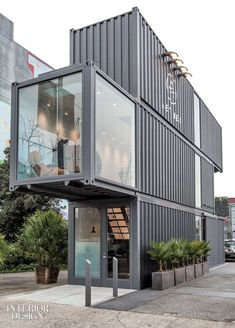 Proxy Shipping Containers Aether Store by Envelope A+D | Companies | Interior Design