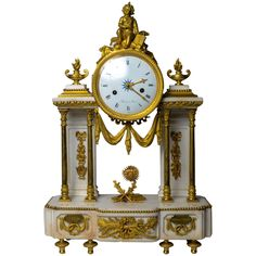 A Louis XVI Philosophical Allegory Mantel Clock   From a unique collection of antique and modern clocks at https://www.1stdibs.com/furniture/decorative-objects/clocks/