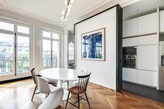 Un appartement haussmannien moderne et #design - #Haussmann