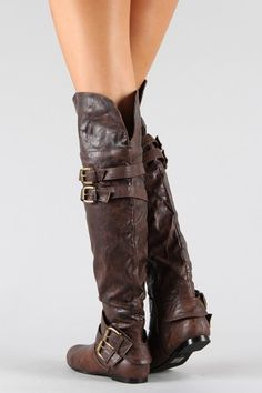 I've got these boots, if you turn the part at the top down they look like pirate boots!