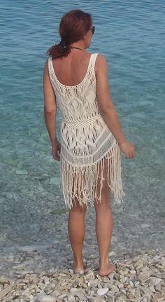 Macrame Dress, Macrame Bag, Diy Crochet, Crochet Top, Paracord, Bikini Dress, Boho Festival, Textiles, Knit Dress