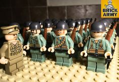 WW2 minifigure US British soldier army infantry military + Lego brick, UK seller | eBay