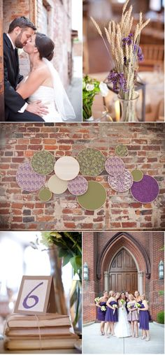 Ignore the kissing wedding people...but aren't the embroidery loops in the center photo fun!