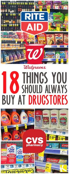 18 Shocking Things You Should Always Buy at Drugstores - The Krazy Coupon Lady Ways To Save Money, Money Tips, Money Saving Tips, Saving Ideas, Money Savers, Shopping Coupons, Shopping Hacks, Store Hacks, Grocery Coupons