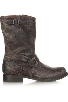 Frye Veronica distressed boots | THE OUTNET