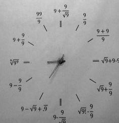 El reloj de pared de un matemático