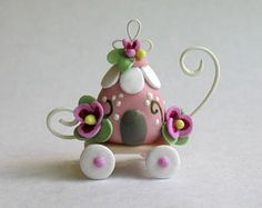 Miniature  Fairy Whimsy Blossom Chariot by C. Rohal