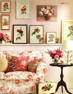 Not too shabby :) but very chic. Love all the florals - paintings, fabrics...
