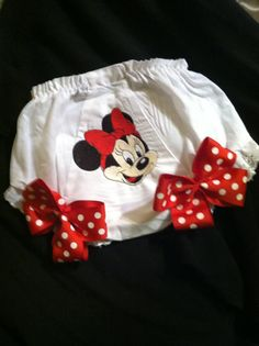 Minnie Bow Bloomer/diaper cover by Fancydancyboutique on Etsy, $10.50