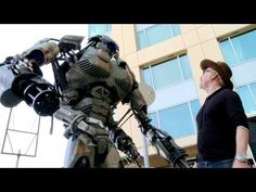 Giant Robot Storms San Diego Comic Con 2013 - Wired - Geek Week  Terminator 3 Skynet Takes Over http://www.youtube.com/watch?v=_Wlsd9mljiU  The Machines - Servant Robots Revolt http://www.youtube.com/watch?v=REi8knh1_NY  It's in your nature to destroy yourselves http://www.youtube.com/watch?v=MF_4EWSuzQY New 2013 DARPA Building Real Life Terminators Military Robots http://www.youtube.com/watch?v=EHEHmosfuhw