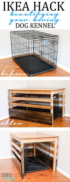 IKEA Hack: Building a Dog Kennel Cover from the INGO Pine Table #ikeahack #ikeahackers #ikeahacking #dog #doglovers #homeinspiration #diyblogger #savingamyblog