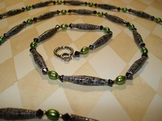 Black Paper Bead Necklace by Handmade Stuffs, via Flickr