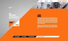 Nike - Bloed Oranje on the Behance Network — Designspiration Website Design Layout, Web Layout, Layout Design, Web Design Inspiration, Creative Inspiration, Design Ideas, Corporate Design, Business Design, Orange Design