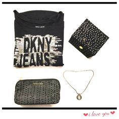 💫1 Day Sale💫DKNY Top💫 💫You got all the sparkles you need for the night,....awesome long sleeve shirt with DKNY JEANS logo on the front.....💫 DKNY Tops Tees - Long Sleeve