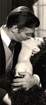 Rhett Butler & Scarlett O'Hara (Clark Gable & Vivien Leigh) - Go With The Wind - 1939 Vivien Leigh, Clark Gable, Go To Movies, Old Movies, Great Movies, Kiss Him Not Me, The Kiss, Rhett Butler, Scarlett O'hara