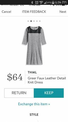 THML Greer Gaux Leather Detail Knit Dress.  If I could get this in some form of red or wine,  I would totally give it a try.