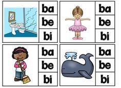 Spanish Alphabet Letter B - Rompecabezas (ba, be, bi, bo, Spanish Activities, Kindergarten Activities, Classroom Activities, Spanish Alphabet Letters, Country Day School, Letter B, Letter Tracing, Classroom Tools, Teaching The Alphabet
