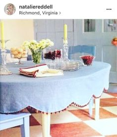 Prodigious Useful Tips: Upholstery Design Dining Rooms upholstery shop timorous beasties.Upholstery Nails Tutorials upholstery trends home.Upholstery Trim Tips. Mantel Redondo, Fitted Tablecloths, Furniture Upholstery, Upholstery Trim, Upholstery Nails, Upholstery Cleaning, Table Toppers, Diy Table, Table Linens