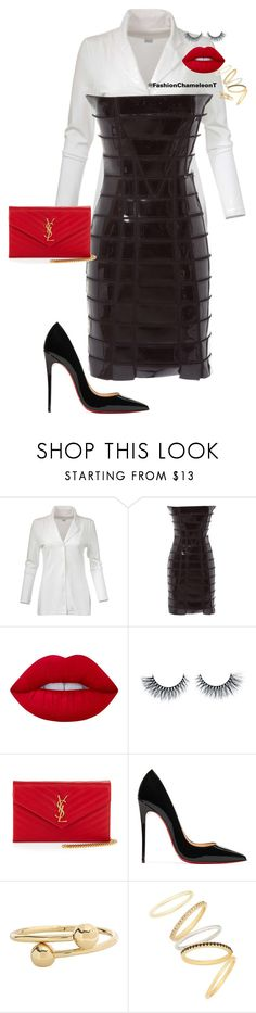 """Untitled #468"" by fashionchameleont on Polyvore featuring Gareth Pugh, Lime Crime, Yves Saint Laurent, Christian Louboutin, J.W. Anderson and Madewell"