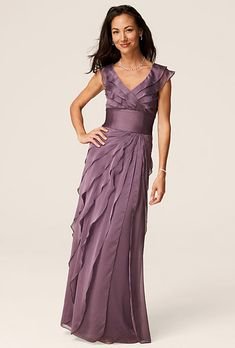 Like this color... Gown by David's Bridal