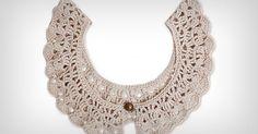 Acompanhe como fazer uma linda e romântica da gola de crochê para você usar com várias produções