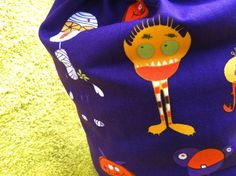 Knitting Project  Bag 50% OFF! SALE Robert Kaufman  MONSTER by rosyretro, £6.00