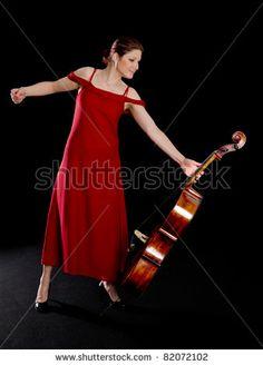 red cello dress
