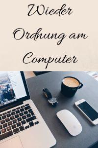 Orndung am Computer