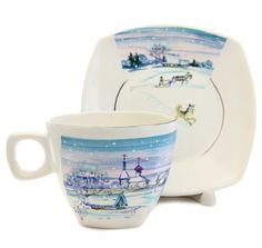 Winter Scenery Cup & Saucer Set    Order here: https://catalog.obitel-minsk.com/winter-scenery-cup-saucer-set-km-151-2-1-2.html    #orthodox #orthodoxy #Christmas #gift #ceramics #handmade #giftideas #teaset #cup #saucer #CatalogOfGoodDeeds