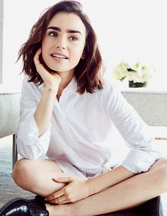 Lily Collins photographed for Lancome.